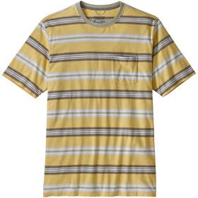 Patagonia Squeaky Clean Pocket Bluzka z krótkim rękawem Mężczyźni, tarkine stripe/surfboard yellowith weathered stone
